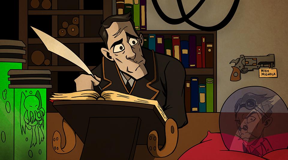 Иллюстрация из комикса Lovecraft & Tesla