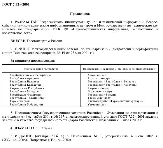 Оформление дипломной работы по ГОСТу в году ГОСТ 7 32 2001